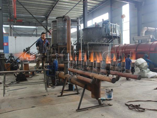 Beston Palm Shell Charcoal Making Machine