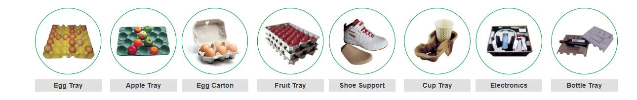 End Products of A Pulp Molding Production Line